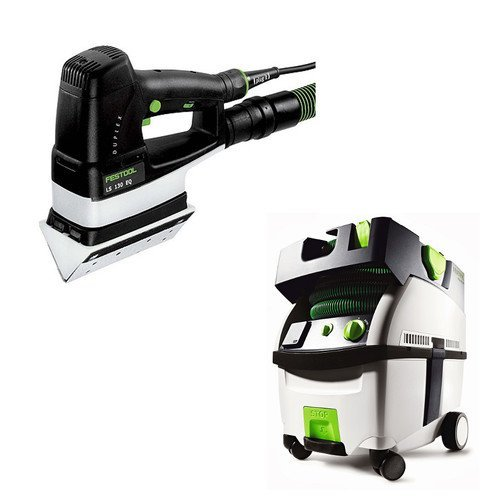 Festool PI567852 Duplex Linear Detail Sander with CT MIDI HEPA 3.3 Gallon Mobile Dust Extractor -