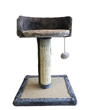 Ducomi® Fusa - Tiragraffi Uñas para Gatos con Sofá Caseta y Juegos Pelota de Cuerda