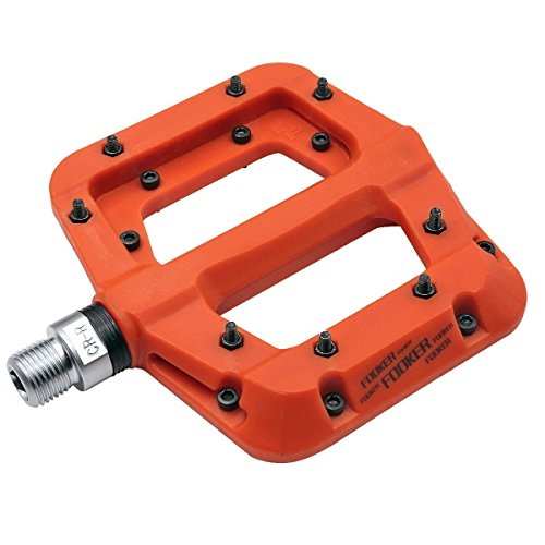 FOOKER MTB Bike pedal Nylon Composite 9/16 Mountain Bike Pedals High-Strength Non-Slip Bicycle Pedals Surface For Road BMX MTB Fixie Bikes 3 Bearing