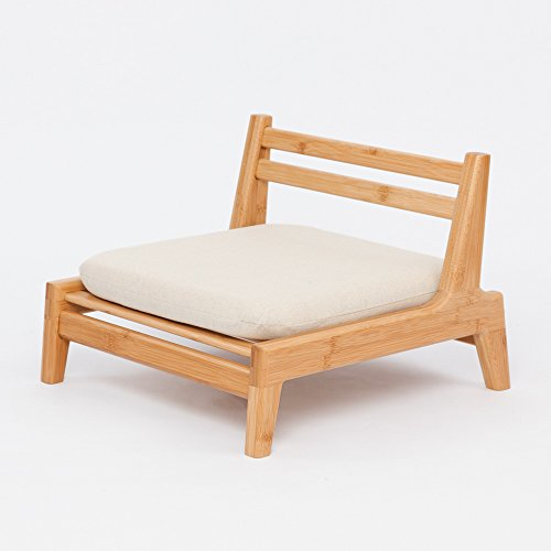 ZEN'S BAMBOO Floor Seat Chair Living Room Japanese Balcony Chair Cushion Accent (Japanese Cushion)