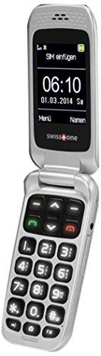 swisstone BBM 610 - GSM eleganten Klappdesign Mobiltelefon mit Tischladestation (Micro-SD bis 32 GB Speicher, Kamera, große Tasten, Tischladestation, Bluetooth)