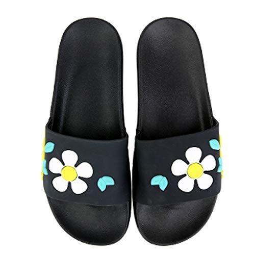 Version Chaussons Pantoufles Fleur la Mignon AMINSHAP Couleur Semelle Accueil Bleu à Porter Taille Fashion Slippers Green épaisse 38EU coréenne Home 37 de des Slips xxF84prw