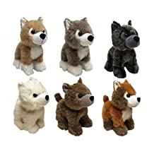 Game of Thrones Direwolf Cub Plush Complete Set of 6 (Lady, Summer, Grey Wind, Ghost, Shaggydog, & Nymeria) by Factory Entertainment
