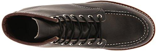 Red Wing Shoes 6 Classic Moc, Zapatos de cuero con cordones para hombre Charcoal
