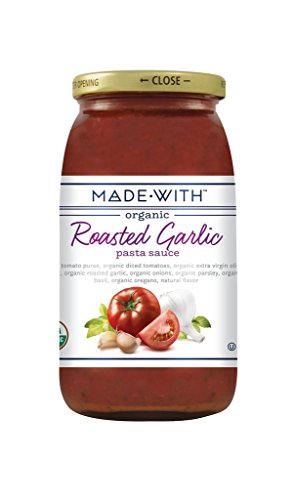 Made With Organic Pasta Sauce Roasted Garlic, 25 oz by MadeWith