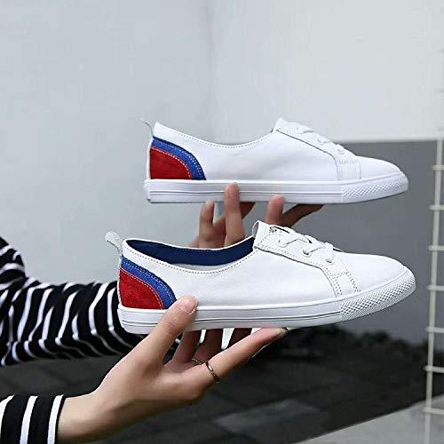 Zapatos Planos Nuevos Zapatos AIMENGA Pequeños Solteros Zapatos Fondo Blancos Plano Frenties Poco Estudiantes De gules Profundos Zapatos 5EpwwUq