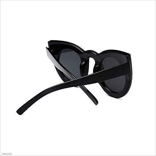 Yeux UV Noir Les Protection Lunettes Chat Couleur Parti Cadre Surdimensionné Sensexiao Soleil Vacances pour de pêche Plage Femmes Noir Conduite wqHnIZnE