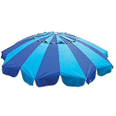 Rio Beach 7.5 ft. Tilt Beach Umbrella with Built-in Table and Sand Anchor: Sports & Outdoors