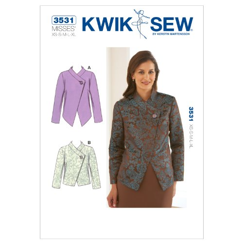 Kwik Sew K3531 Jackets Sewing Pattern, Size XS-S-M-L-XL