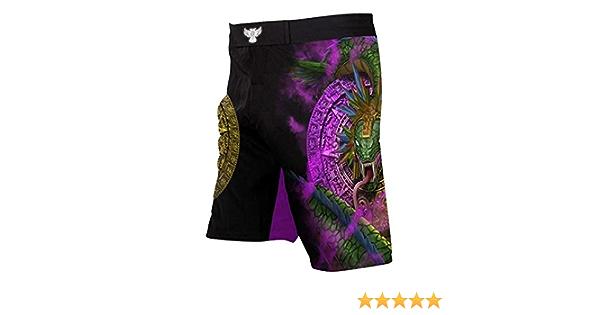 Raven Fightwear Men/'s Huitzilopochtli Aztec MMA Shorts Black