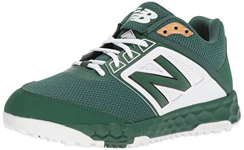New Balance Men's 3000v4 Turf Baseball Shoe, Green/White, 11 D ()
