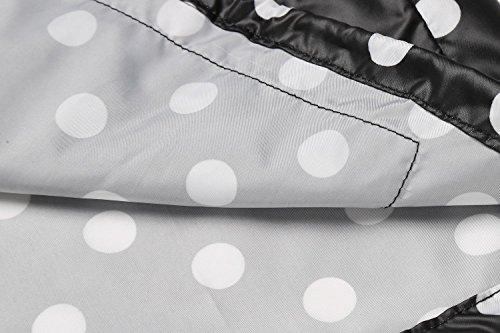 blanc Veste Impermable fond Blouson noir Manteau Cape Biker Raincoat Femme Hoodie Top Compressible pois pluie cooshional de Moto Zipper E5ZqUnE