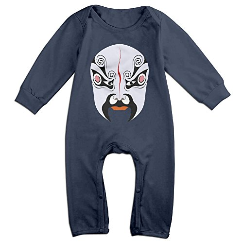 Concubine Costume (PAGE2 Peking Opera Face Mask Newborn Babys Long Sleeve Baby Climbing Clothes Navy Size 6 M)