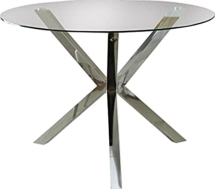 e279a0b6b6b8 Image Unavailable. Image not available for. Color  Dining Table Made of  Glass and Metal It has Mid-century Modern ...