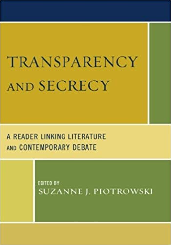 Book Transparency and Secrecy: A Reader Linking Literature and Contemporary Debate