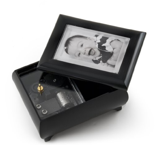 3'' X 2'' Wallet Size Matte Black Photo Frame Music Box With New Pop - Over 400 Song Choices - Out Lens System Take Me Home Country Roads (John Denver) by MusicBoxAttic (Image #2)