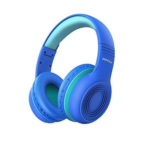 Mpow CH6 Kids Headphones for Baby to Teen, Switchable Volume Limited Safe Headphones w/Sharing Function for Child Boys Girls, Foldable Over-Ear/On-Ear Headset w/Mic for School/PC