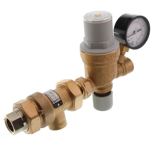 1/2'' 573 Backflow Preventer and AutoFill Combination w/ Pressure Gauge (Threaded) by Caleffi