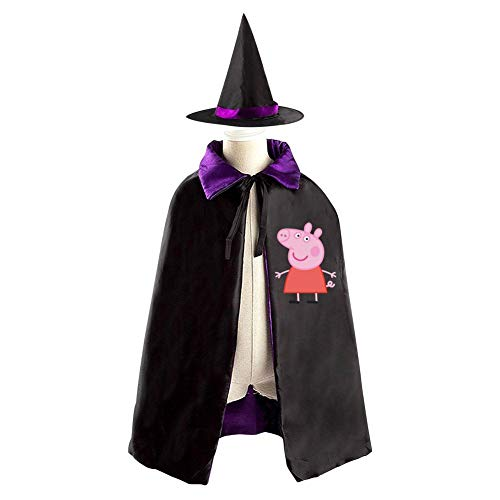 Hiccup Costumes Cosplay (Pig Christmas Halloween Costumes Cape for Kids, Cosplay Party Cloak With Hat Witch)