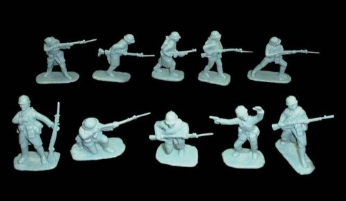 Armies in Plastic WWI French Infantry Offered By Classic Toy Soldiers