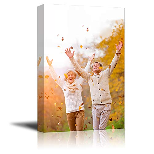 NWT Custom Canvas Prints with Your Photos for Family, Personalized Canvas Pictures for Wall to Print Framed 10x8 inches