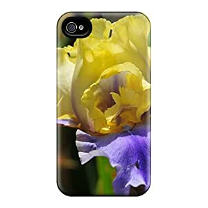 AnnetteL Case Cover For Iphone 4/4s - Retailer Packaging Yellow Purple Iris Protective Case