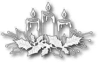Memory Box Die ~ Glowing Candles