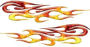 amazoncom full color tribal reflective real fire flame