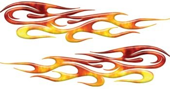 Real Fire Tribal Flame Decals Motorcycle, Truck, Car, ATV, etc. - 4