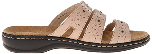 Clarks Mujer Leisa Cactus Slide Sandalia Nude Leather