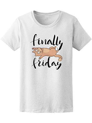 Finally Friday Cat Lying Tee Women's -Image by Shutterstock