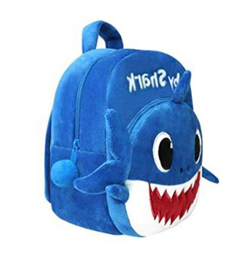 My Purple Giraffe Baby Shark Soft Backpack Cartoon Plush Bag for Kids and Toddlers Bag or Travel Bag Pink