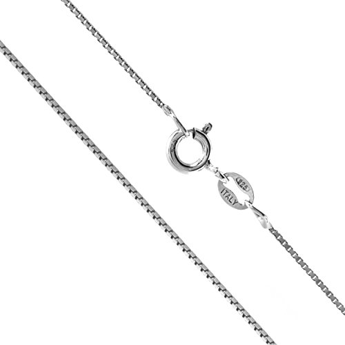 Sterling Silver 1mm Box Chain (30 Inches) - Heavy Box Chain Necklace