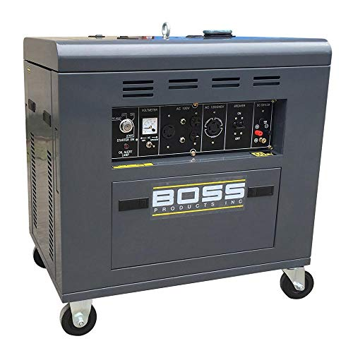 Boss Precision Products Inc. Portable Generator 2 -Speed 12 HP 120/240 -Volt Diesel Motor with Single Cylinder Vertical 4-Stroke Air Cooled