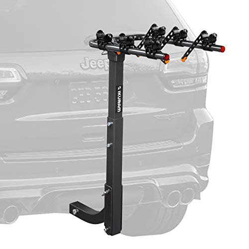Lenox Car 3 Hitch Mount Bike Rack 2 Inches Trailer Receiver Steel Construction