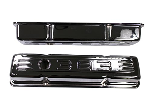 Chrome Steel Short Valve Cover for SBC Small Block Chevy 58-86 283 327 350 400