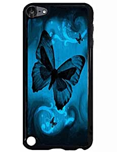 Frosted Blue Butterfly Phone Hard Case for Ipod Touch 5th