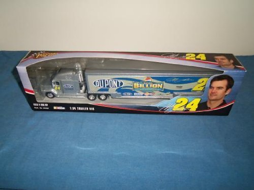 2004 Jeff Gordon #24 Pepsi Billion Dollars Dupont Hauler Trailer Tractor Semi Rig Truck Transporter 1/64 Scale Winners Circle Metal Diecast Cab, Plastic Trailer ()
