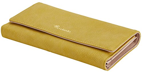 Travelambo Womens Wallet Faux Leather RFID Blocking Purse Credit Card Clutch (Lemon Yellow 310) by Travelambo (Image #3)