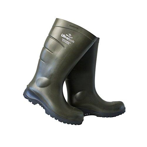 - UltraSource Polyurethane Steel Toe Work Boots, Green, Size 9