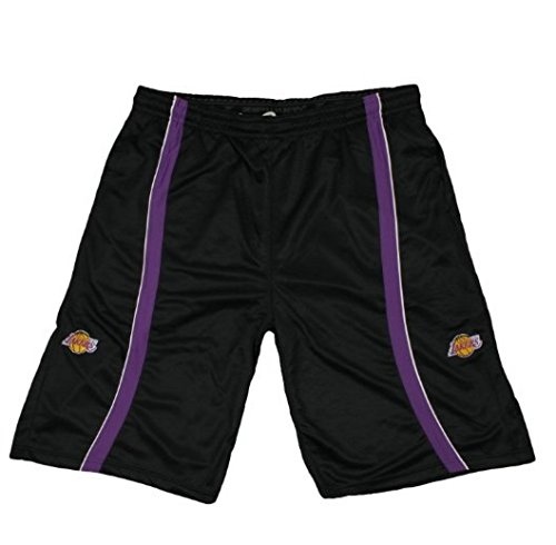 Los Angeles Lakers NBA Basketball Tall Men Mesh Shorts, Black (X-Large Tall) by Zipway