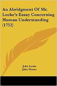 Locke an essay concerning human understanding amazon