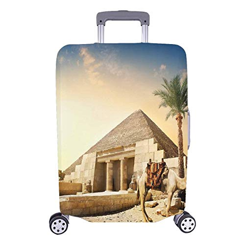 InterestPrint Egypt Camel near Pyramid Luggage Case Protective Baggage Suitcase Cover for 26