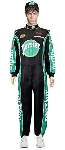Jean Girard W/Cap NASCAR Jumpsuit Costume Talladega