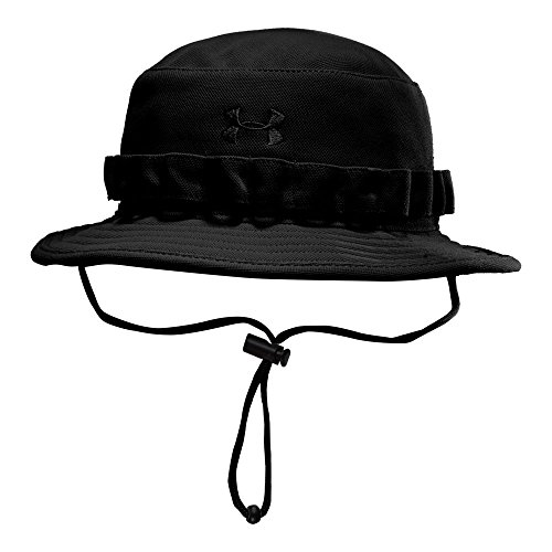 Under Armour Men's Tactical Bucket Hat, Black (001)/Black, One Size - Boonie Hat Woven Hat