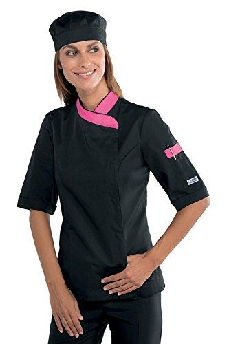 Cotone Isacco Spandex M Lady Manica m² Giacca Gr 97 Bianco 26116 Chef 210 3 Lunga fuxia Nero AxrAn1