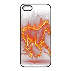 Fire Horse New Printed Case for Iphone 5,5S, Unique Design Fire Horse Case