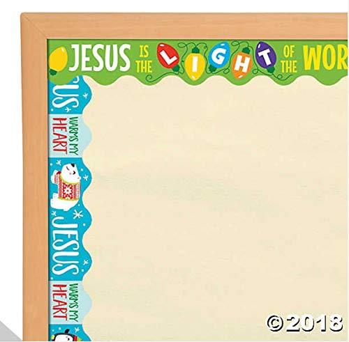 Fun Express - Reversible Christmas & Winter Bulletin Board Border - Spiritually Uplift and Motivate - Perfect for Church
