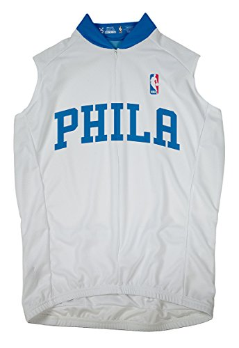 VOmax NBA Philadelphia 76ers Women's Sleeveless Home Jersey, Small, White