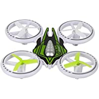 Owill JXD JD399 RC Colorful Small Flying Saucer Four-Axis Aircraft Quadcopter Drone/Wind Resistant Design (Green)